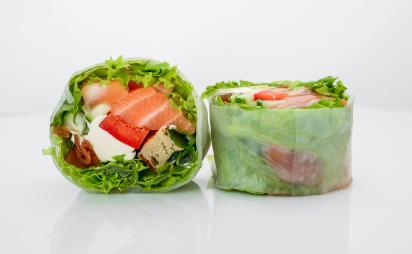 Spring roll with salmon